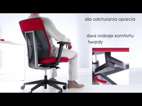 Fotel obrotowy xenon net - mechanizm synchro SELF w ofercie www.efekt-style.pl