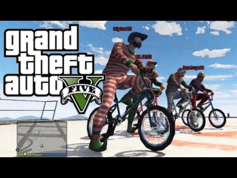 GTA 5 Online - Five BMX Bike Challenges! - YouTube
