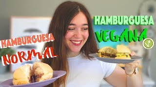HAMBURGUESA VEGANA VS HAMBURGUESA NORMAL