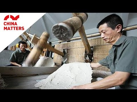 Chinese paper making process explained