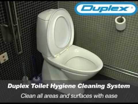 Bathroom Toilet Hygiene Cleaning Solutions With Duplex Steam Cleaning  Equipment. Duplex Cleaning Machines Australia