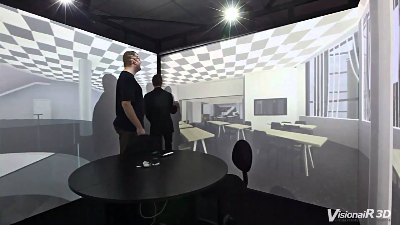 Cubes 3d Wallpaper The Simulation Cube Cave Vr System By Visionair 3d