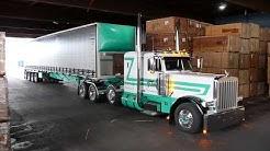 Van Dyke Trucking Oregon, Peterbilt 389, hauling lumber