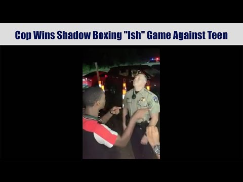 Cop Wins Shadow Boxing Ish Game Against Teen – Finger Pointing Game Compilation
