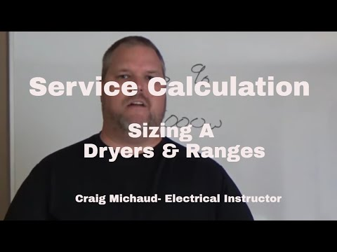 Sizing Dryers And Ranges, Load Calculations