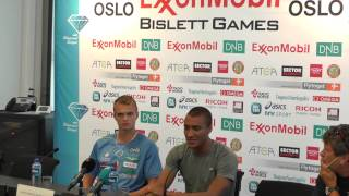 IAAF Diamond League Oslo Press Conference - Aston Eaton and Oyvind Strommen Kjerpeset