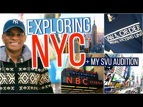 Auditioning for Law & Order, TOP OF THE ROCK, Exploring New York City | Tywan Wade Vlogs