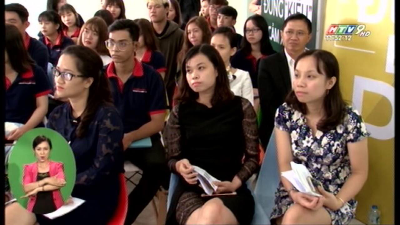 Cao Đẳng Việt Mỹ đào tạo ngành Quan Hệ Công Chúng Thời sự 11h30 HTV9 ngay 28.5.2017