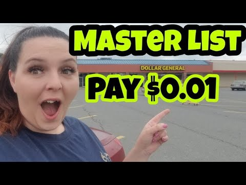 Penny Items Cheat Sheet For Dollar General 2019  Master Penny List
