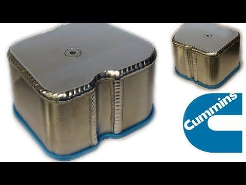 TIG Welding Aluminum Fabrication - Cummins Valve Cover
