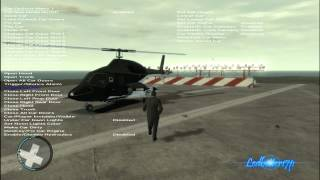 GTA 4 Mod Showcase MH60K Blackhawk And Airwolf Modified Bell 222