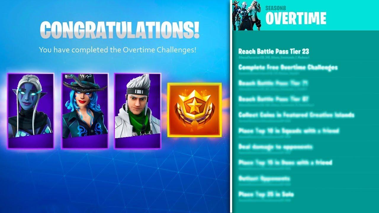 new free season 9 battle pass skin styles challenges fortnite overtime rewards - fortnite overtime challenges season 9 battle pass