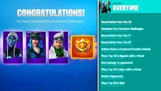 *NEW* FREE SEASON 9 BATTLE PASS, SKIN STYLES, & CHALLENGES! (Fortnite Overtime REWARDS)