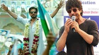 Shah Rukh Khan Says RAEES Dialogue for Fans at Band Stand