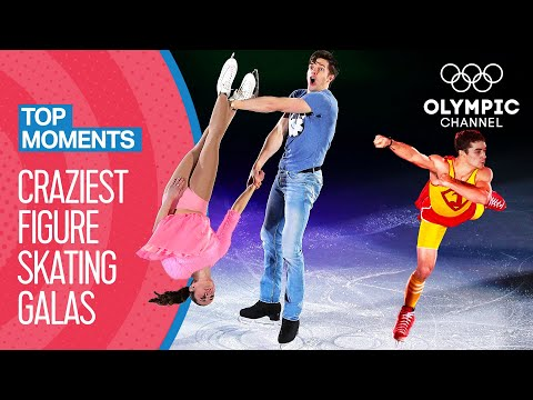 Top 10 Craziest Figure Skating Gala Performances | Top Moments
