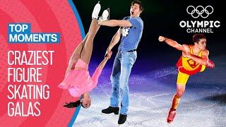 Top 10 Craziest Figure Skating Gala Performances | Top Moments