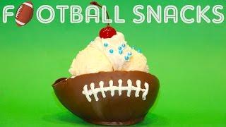 SUPERBOWL IceCream Sundae! Chocolate Footballs and Fun Food Ideas | My Cupcake Addiction