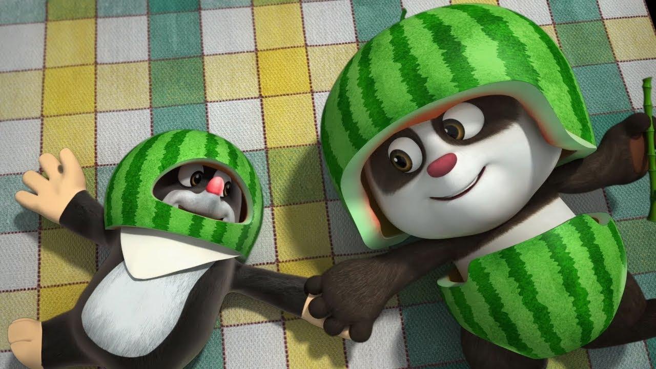 Мультики для детей - Кротик и Панда - Большой арбуз ...