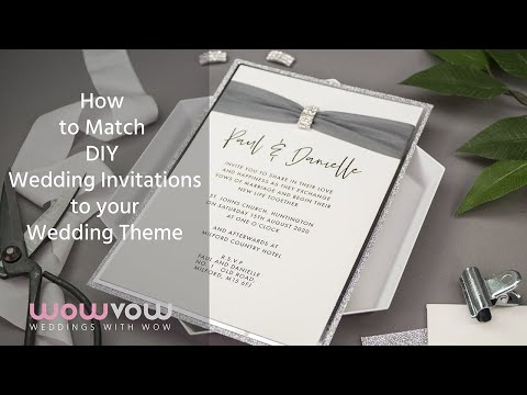 One Wedding Invitation Three Ways