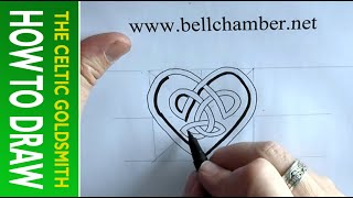 How to draw Celtic patterns 139 - Heart shaped interlace (simple)