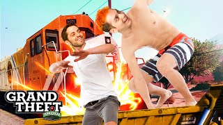 EPIC TRAIN SURFING (Grand Theft Smosh)