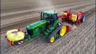 Planting Potatoes | CTF style | John Deere 8520T & Grimme GB 430 belt planter | Klompe