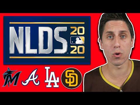 2020 NLDS PREDICTIONS! Dodgers Vs Padres   Braves Vs Marlins