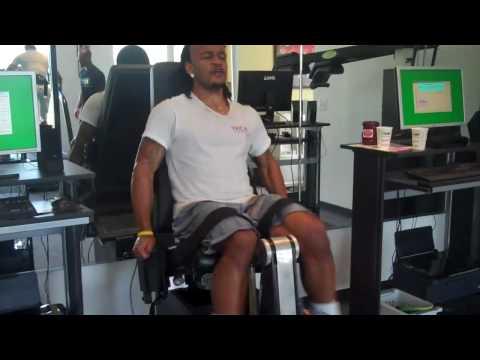 NC A&T DB - Nick Macklin -  Performing Leg Ext/Curls