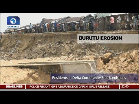 Burutu Erosion: Residents In Delta Community Flee Landslides