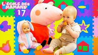 Vidéo pour enfants. Ecole des mamans. Peppa prépare un goûter de la pâte à modeler Play Doh