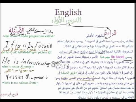 كتاب انجليزي ثاني ثانوي الفصل الثاني محلول
