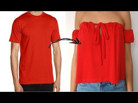 RECICLAR ROPA (SIN MÁQUINA) - ROPA VIEJA A NUEVA - DIY CLOTHES - TRANSFORM YOUR OLD CLOTHES TO NEW