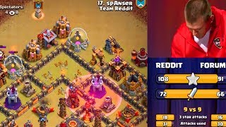 The EPIC Clan War REMATCH! Clash of Clans Reddit vs Forums!
