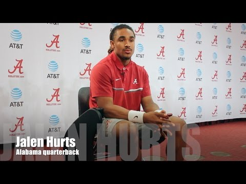 Alabama QB Jalen Hurts updates his progress during spring practice