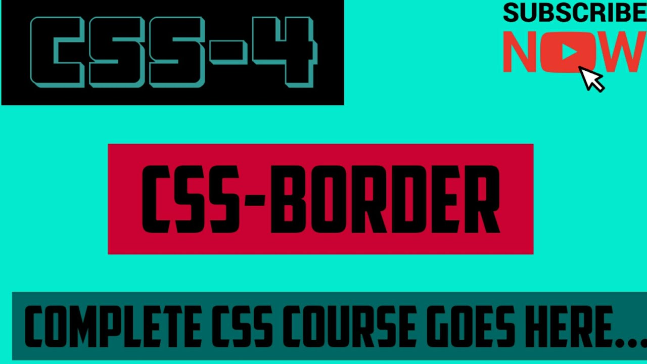 How to add css border property of css. - YouTube