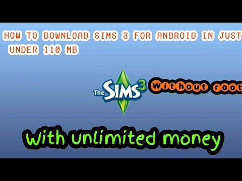 How to download sims 3 for android in just under 110 mb with unlimited  money ¦ without root ¦ EMY