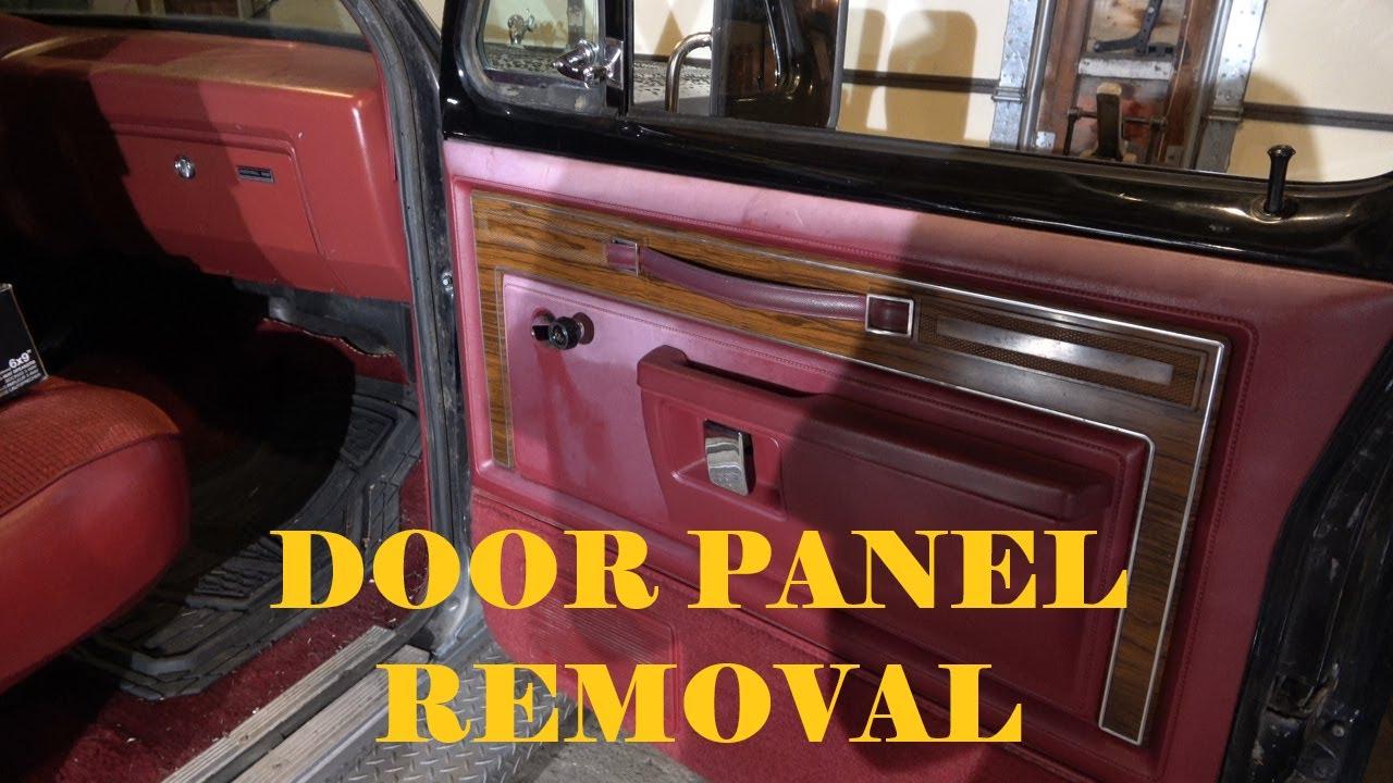 Easy First Gen Dodge D150 Door Panel Removal 72 93 Youtube