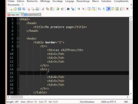 Tutoriel HTML CSS partie 9 (Ajouter des titres au tableau) - YouTube