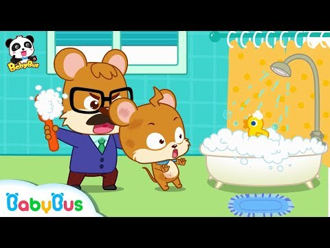 Whiskers Doesn't Want to Take A Bath   Kids Good Habits   Picture Book Animation for Kids   BabyBus
