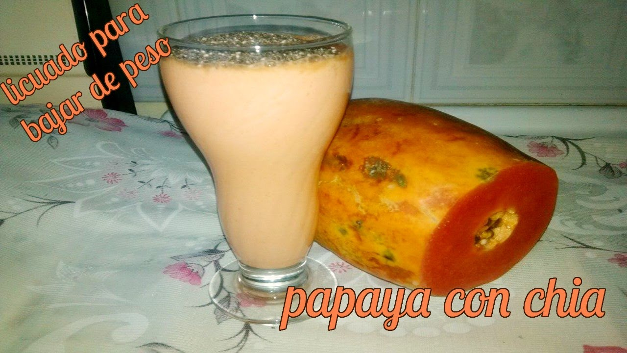 Batido de papaya y sabila para adelgazar