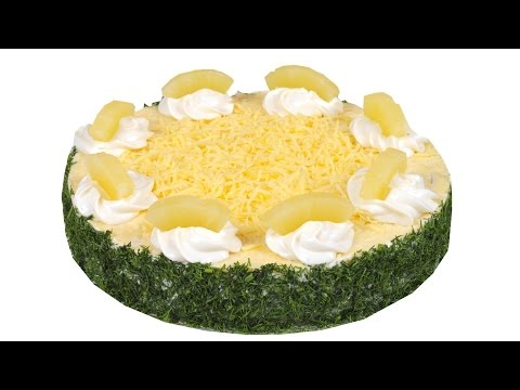 Салат 'Фьюжн' Праздничное оформление необычайно вкусного салата. Пошаговый рецепт.