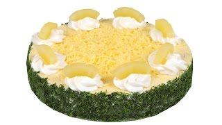 """Салат """"Фьюжн"""" Праздничное оформление необычайно вкусного салата. Пошаговый рецепт."""