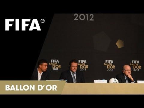 FIFA Ballon d'Or 2012 - Nominees Press Conference