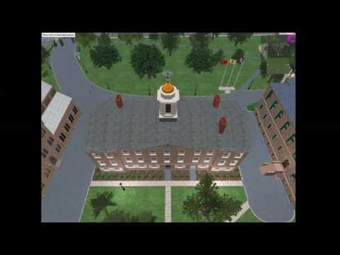 Rutgers University in Second Life (HD)