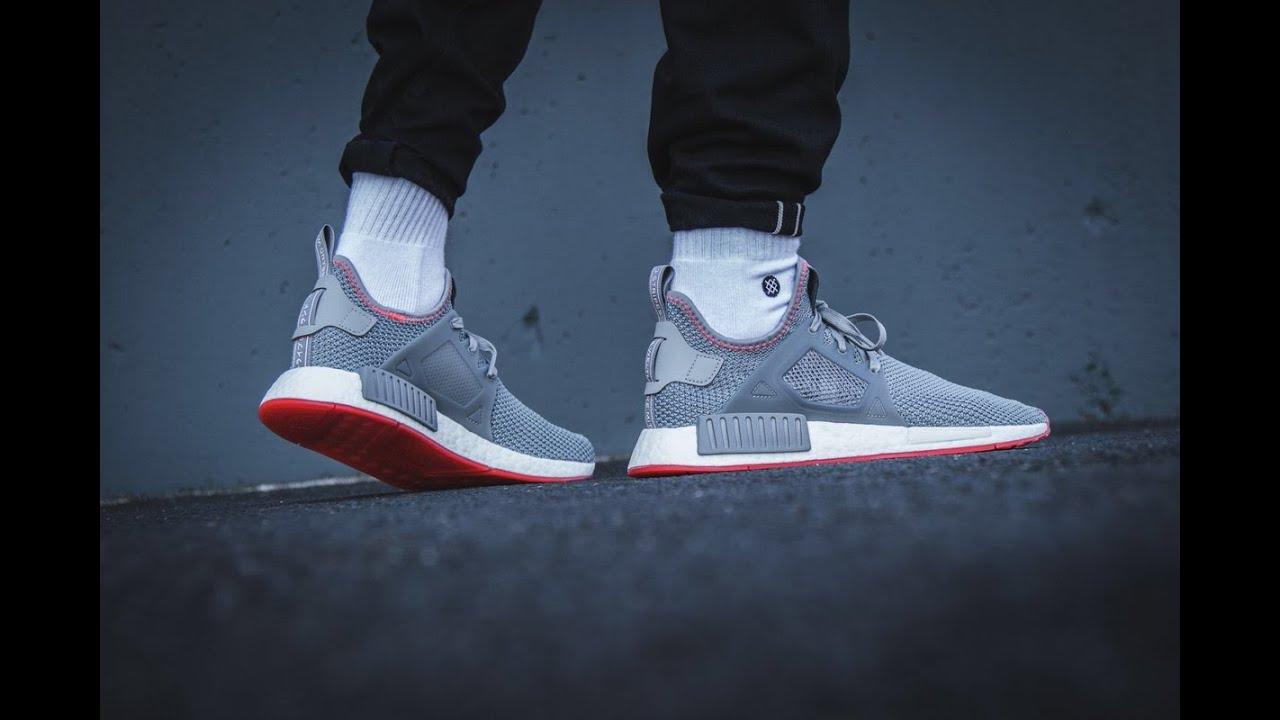 Adidas Nmd Xr1 Grey Three Solar Red By9925 Youtube