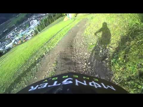 Attila Liszi MTB Downhill Rider - Schladming World Cup Track Training Run - ReplayXD view