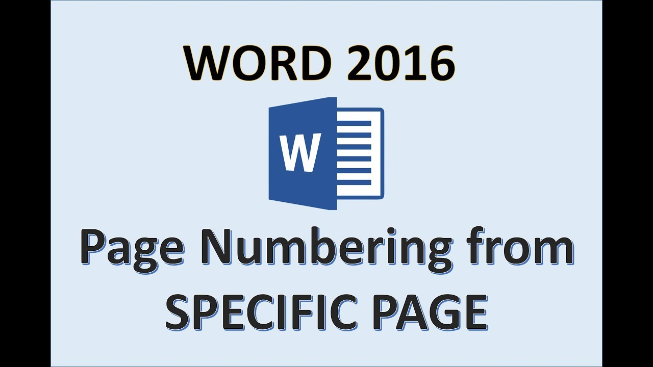 Word 2016 page numbers starting from a specific page how to word 2016 page numbers starting from a specific page how to number start pages in add numbering toneelgroepblik Image collections
