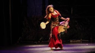 gypsy turkish dance with tambourine