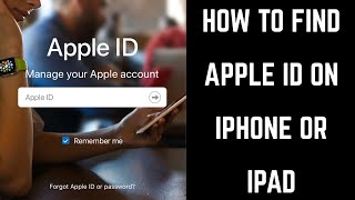 How to Find Apple ID on iPhone or iPad