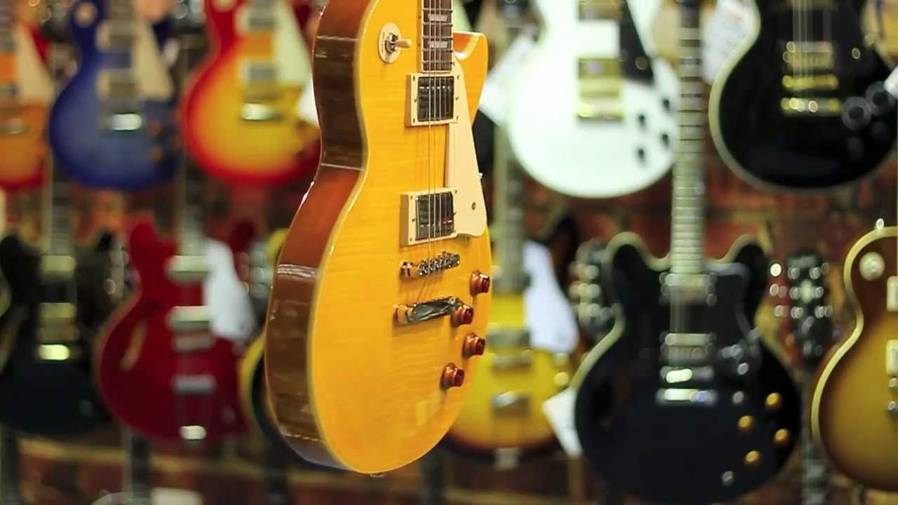 Epiphone Les Paul Standard Plustop Trans Amber Quick Look Youtube Gibson Classic Plus Electric Guitar Ebony The Music